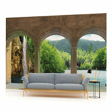 View from Terrace of Lake Photo Wallpaper Wall Mural (CN-436VE)