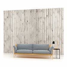 White Wood Planks Texture Photo Wallpaper Wall Mural (CN-1013P)