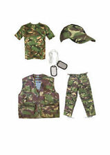 Kids Army Camo Fancy Dress Children's Soldier Outfit Uniform Play Set