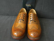 Loake Ashby Tan Brogues Leather Sole Hand Made