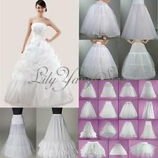 15 Styles Hoops Layers White Wedding Bridal Dress Crinoline Petticoat Underskirt