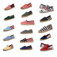 New Fashion Casual Womens Lady Canvas Flats Shoes Slip On Ballet Loafer Striped