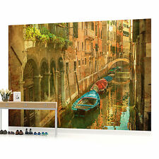 Vintage Venice Canal Italy Photo Wallpaper Wall Mural (CN-156P)