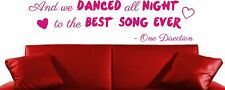 ONE DIRECTION PA BEST SONG EVER WALL ART DECAL STICKER GIFT GIRLS BEDROOM