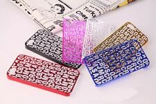 New fashion Marc By Marc Jacobs transparent letter CASE cover for iphone 5 5s 5G