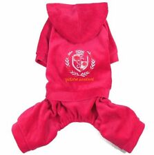 Velvet Casual Hooded Jumpsuit Pajamas Outfits Small Boy Girl Dog Clothes S~XL