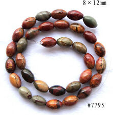 """Natural Picasso Jasper Rice Shape Beads 8×12mm, 13×18mm, 15.8""""~16.5"""""""