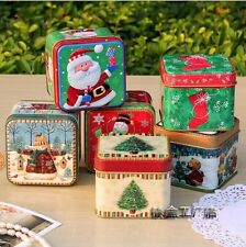 6pcs Christmas Empty Tinplate Container Small Candy box Jewelry Storage Gift
