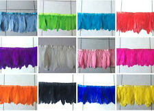 Goose feather fringe of 1&2yards trim for Crafts/Costume/Sewing.Choose color!