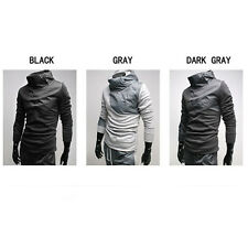 Mens Casual fashion slim Fleece Full Track joint Contrast color Suits BJ