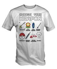 Choose Your Weapon T Shirt Tee Tshirt gaming gamer mario retro cool nintendo