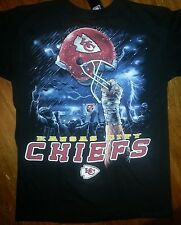 KANSAS CITY CHIEFS  New with tags SKY HELMET T-Shirt BLACK shirt NFL LICENSED