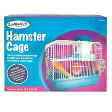 HAMSTER CAGE 2 Levels, Running Wheel, Water Bottle & House for Gerbils Mice Rats