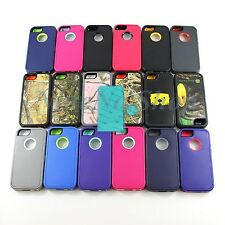 Rugged Combo Case + Protective film For Otterbox Defender Series For Iphone 5 5S