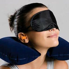 3PCS Outdoor Travel Portable Inflatable Pillow Eye Mask and Earplug Kit 3 Colors