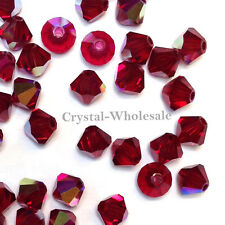 4mm Siam AB (208 AB) Swarovski crystal 5328 / 5301 Loose Bicone Beads