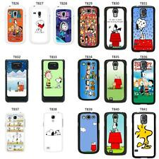 Snoopy Cartoon cover case for Samsung Galaxy S2 S3 S4 S5 Mini - T8