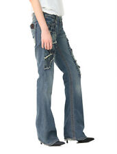 Stitch's Womens Blue Vintage Patch Denim Trouser Bootcut Jeans Size 24 26 28 30