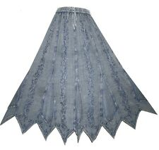 Agan Traders 714 Gypsy Medieval Asymmetrical Net Outlays Embroidered Full Skirt