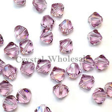 5mm Light Amethyst (212) Genuine Swarovski crystal 5328 / 5301 Loose Bicone Bead