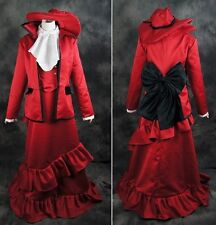 a120 BLACK BUTLER Madame Red Cosplay Kostüm Kleid Damen Anzug costume nach Maß