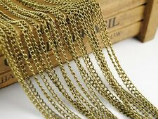 Sell well 16ft(5m) 3x4mm Twist Curb Chain Jewelry Links Chain Necklace Findings