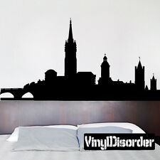 Dublin Ireland Skyline Vinyl Wall Decal or Car Sticker SS129EY