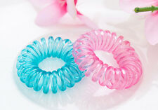 10Pcs Fashion Girls Ponytail Holder Telephone Wire Cord Head Ties Hair Band Rope