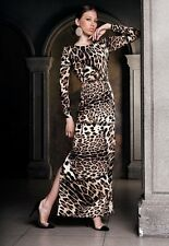 Beautiful leopard dress with a snake on the side by Roberto Cavalli! Sale!