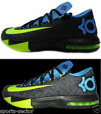 Nike KD VI Mens Basketball Shoes Black/Volt Sizes UK-7, 8.5 10  599424 010