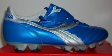 Diadora Brasil Elite RTX 12 Men's Soccer Cleats Metallic Blue/Silver EUR SIZE