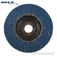 Silverline Zirconium Flap Disc 115mm 40 60 80 Grit flappy 633890 868821 675279