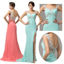 2014 CHEAP! Sexy Split Mermaid Sheer Evening Party Gown Bridesmaid Long Dresses