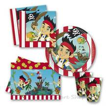 Jake &The Neverland Pirates - Birthday Party Tableware Packs for 8 & 16 Guests