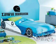 Personalised Any Name Wall Art Sticker Racing car design kids child bedroom