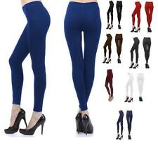 Women's Full Length Leggings Stretch Pants Footless  Stocking S M L