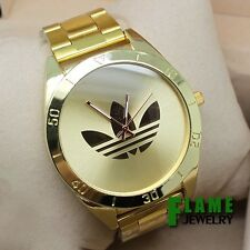 Free shipping quartz dress watches stainless steel gold watches for men women