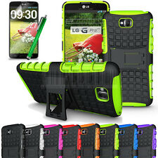 Rugged Armor Heavy Duty Hybrid Case Stand Cover+Gift For LG G Pro Lite D682 D680