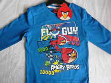NEW BOYS ANGRY BIRDS LONG SLEEVE T SHIRT TOP AGES 3-4, 5-6, 7-8, 9-10
