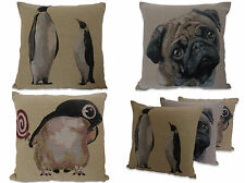 Pug or Penguin 18in x 18in Tapestry Cushion Covers