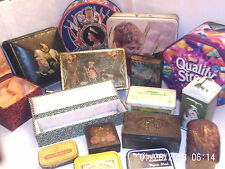 VINTAGE COLLECTABLE TINS & OTHERS - W. Crawford etc   Chose from drop-down menu