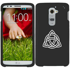 For LG G2 G3 Snap On 2 Piece Rubber Hard Case Cover Triquetra Symbol Celtic Knot