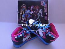 Monster High Hi-Top Sneakers Athletic Tennis Shoes for Girls Sizes 13 1 2