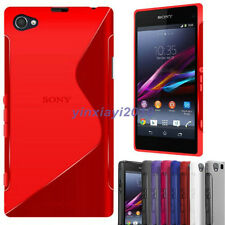 New S Line Soft TPU Gel Case Cover for Sony Experia Z1 Compact Mini D5503