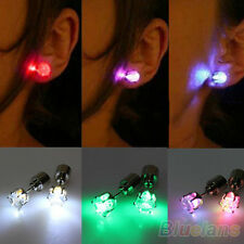 Eye-catching Light Up Led Blinking Earrings Studs Dance Party For Party/Xmas