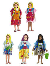 Hooded Poncho Kids Character Towel Beach Pool Fun Hoodie Girl Boy Mermaid Shark