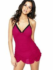 Babydoll by Sorbet Super Sexy Boutique Stretch Mesh Ruched Dress