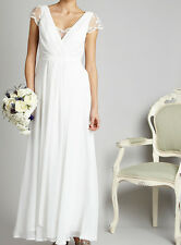 New Exquisite DEBENHAMS DEBUT Ivory WEDDING BRIDE BRIDESMAID'S DRESS 8-16 £120