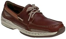 Mens Dunham Captain By New Balance Waterproof Boat Shoes (4E) Brown MCN410BR