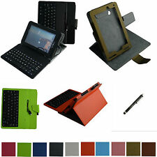 """For 7"""" Verizon Ellipsis 7 4g LTE Tablet Rotary Case+Removable USB Keyboard+Pen"""